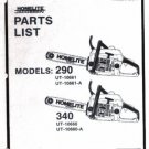 Homelite 290, 340,  Chain Saw Parts List