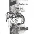 Homelite Multi Purpose Saw DM 20 Parts List