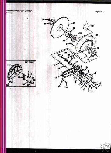 Homelite Multi Purpose Saw DM 54 Parts List
