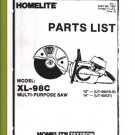 Homelite Multi Purpose Saw XL-98C Parts List