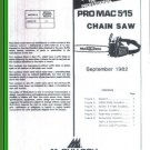 Pro Mac 515, McCulloch Chain Saw Parts List