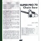 Super Pro 70, McCulloch Chain Saw Parts List