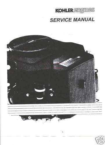 KOHLER Service Manual Command 5,6 Air Cleaner,Fuel