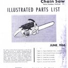 Mac 10-10  McCulloch Chain Saw Parts List (1968)