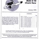 Mac 2-10  McCulloch Chain Saw Parts List (1970)