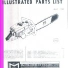 Model 1-53, Vintage McCulloch Chain Saw Parts List