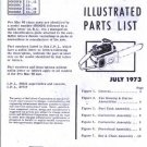Pro Mac 60  McCulloch Chain Saw Parts List (1973)