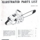Model 1-82, Vintage McCulloch Chain Saw Parts List