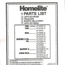 180, 192, 200, Little Red Homelite Chain Saw Parts List