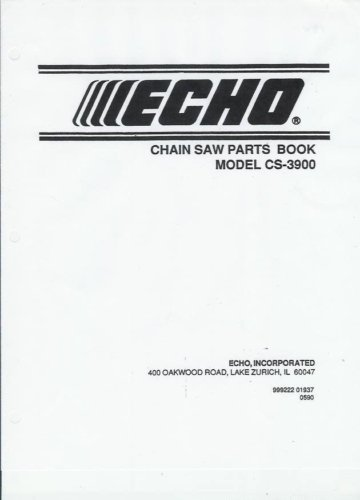 ECHO  CS-3900 Chain saw Parts List