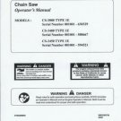 ECHO  CS-3000,3400,3450 All Type 1E Chain Saw Operator's Manual