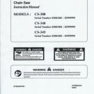 ECHO  CS-300,CS-340, CS_345 Chain Saw Instruction Manual