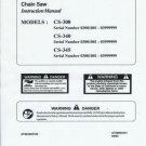 ECHO  CS-300,CS-340, CS_345 Chain Saw Instruction Manual