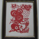 Chinese zodiac paper cut--year of Rat