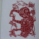 Chinese zodiac paper cut--Year of Monkey