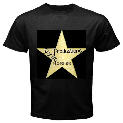 Custom Black T-Shirt Men's MEDIUM Customize Promotional Item Personalize It