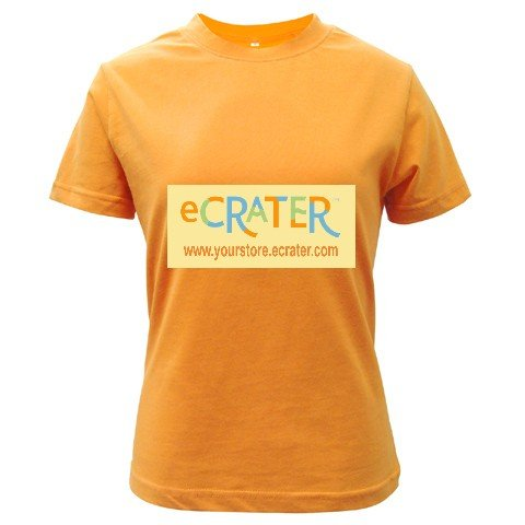 Custom Orange T-Shirt Ladies LARGE Customize Promotional Item Personalize It
