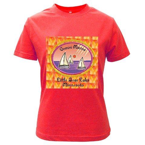 Custom RED T-Shirt Ladies LARGE Customize Promotional Item Personalize It