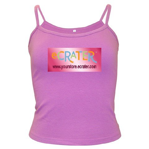 Custom PURPLE Spaghetti Tank Ladies LARGE Customize Promotional Item Personalize It