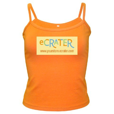 Custom ORANGE Spaghetti Tank Ladies MEDIUM Customize Promotional Item Personalize It