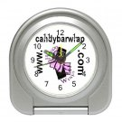 Custom Silver Travel Alarm Clock Customize Promotional Item Personalize It