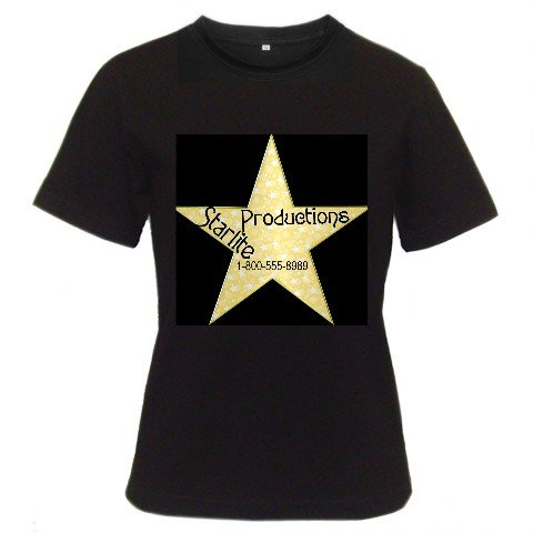Custom Black T-Shirt Men's SMALL Customize Promotional Item Personalize It