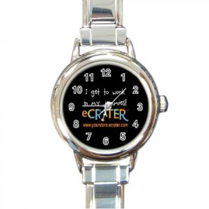 Custom Round Italian Charm Watch Customize Promotional Item Personalize It