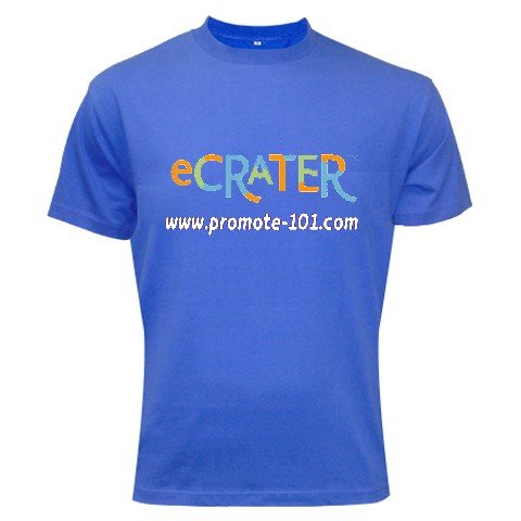 Logo T-Shirt Blue 3XL Customize Promotional Item Personalize It
