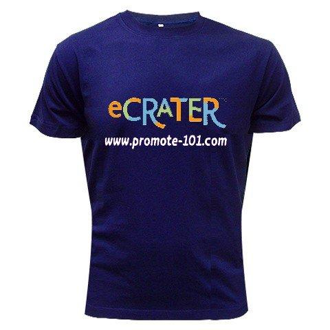Logo T-Shirt NAVY Medium Customize Promotional Item Personalize It #CT