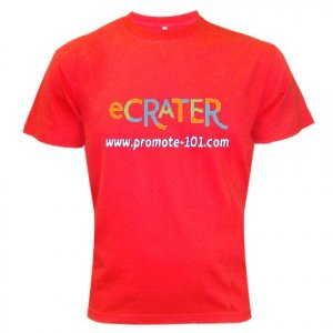 T-Shirt RED LARGE - Brand Your Business Customize Promotional Item Personalize It #CT