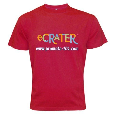 T-Shirt Cardinal LARGE - Logo Brand Your Business Customize Promotional Item Personalize It #CT