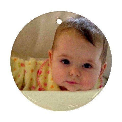 2 Custom Ornament Round Customize Promotional Item Personalize