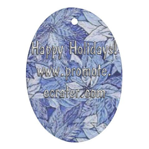 2 Custom Ornament Oval Customize Promotional Item Personalize