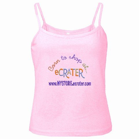Spaghetti Tank Top Pink Ladies SMALL Customize Promotional Item Personalize It
