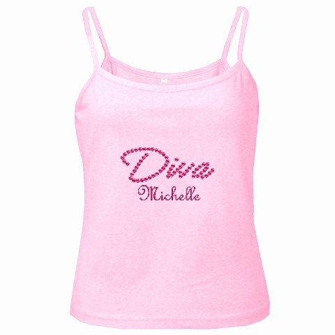 Spaghetti Tank Top PINK Ladies Medium Customize Promotional Item Personalize It