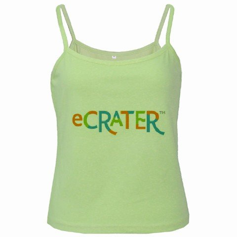 Green Spaghetti Tank Top Ladies Large Customize Promotional Item Personalize It