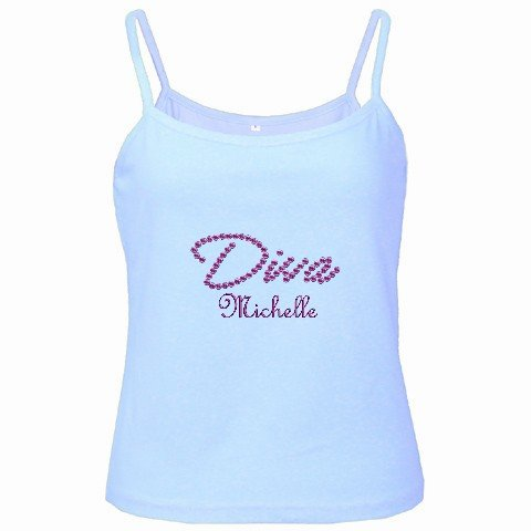 Baby Blue Spaghetti Tank Top Ladies Ex-Large XL Customize Promotional Item Personalize It