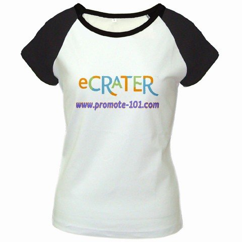 Custom Women's Cap Sleeve T-Shirt White Black SMALL Customized Promotional Personalize It