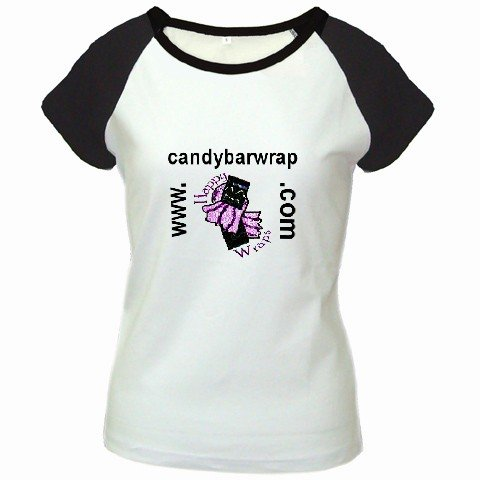 Custom Women's Cap Sleeve T-Shirt White Black LARGE Customized Promotional Personalize It