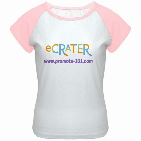 Custom Women's Cap Sleeve T-Shirt White Pink SMALL Customized Promotional Personalize It