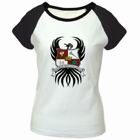 Custom Women's Cap Sleeve T-Shirt White Black MEDIUM Customized Promotional Personalize It