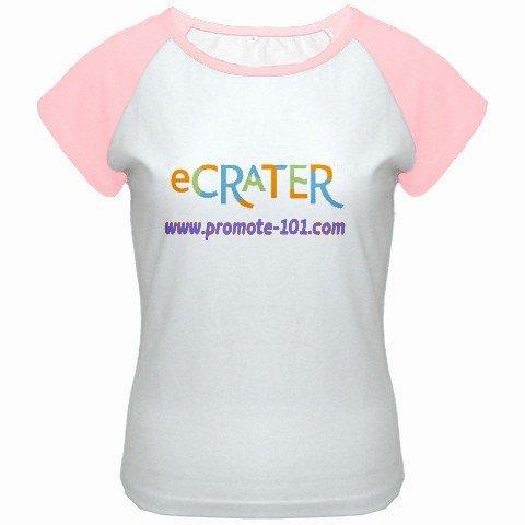 Custom Women's Cap Sleeve T-Shirt White Pink Exlarge XL Customized Promotional Personalize It