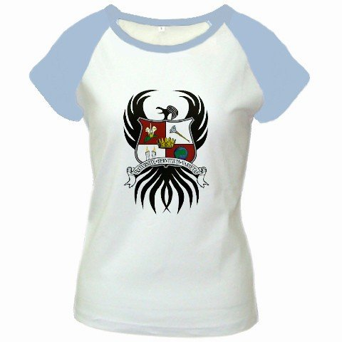 Custom Women's Cap Sleeve T-Shirt White Baby Blue Large Customized Promotional Personalize It