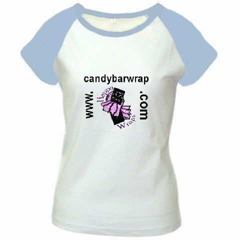 Custom Women's Cap Sleeve T-Shirt White Baby Blue Exlarge XL Customized Promotional Personalize It