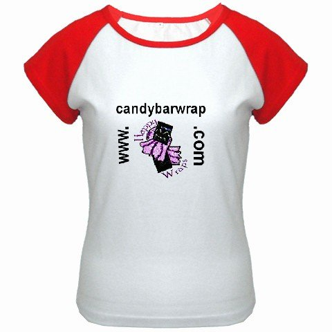 Custom Women's Cap Sleeve T-Shirt White Red Large Customized Promotional Personalize It