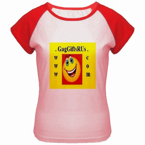 Custom Women's Cap Sleeve T-Shirt Pink Red SMALL Customized Promotional Personalize It