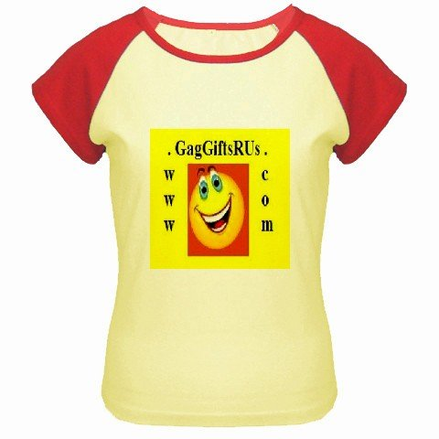 Custom Women's Cap Sleeve T-Shirt Yellow Red SMALL Customized Promotional Personalize It