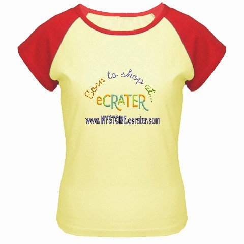 Custom Women's Cap Sleeve T-Shirt Yellow Red Exlarge XL Customized Promotional Personalize It