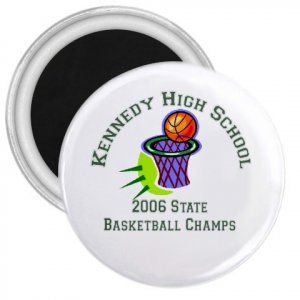 "Custom 1"" Mini Magnet 100 pack Personalize for Sports Team School Business"