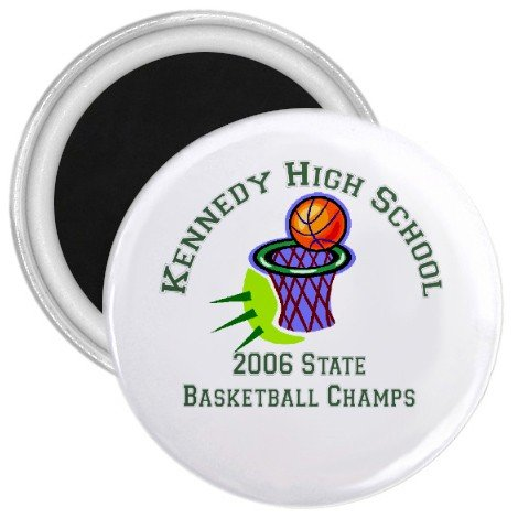 "Custom 1.75"" Magnet 100 pack Personalize for Sports Team School Business"